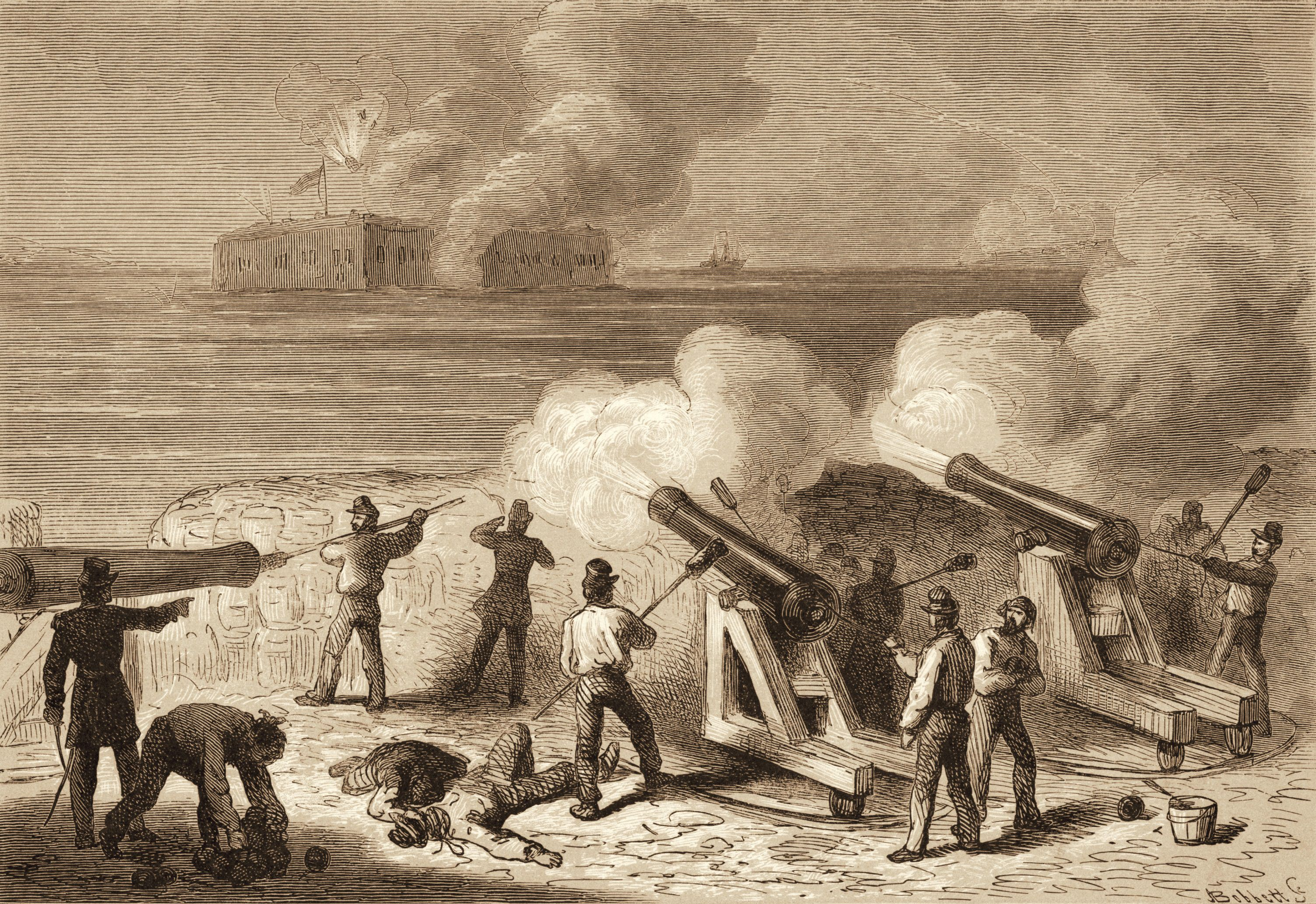 Illustration of the attack on Fort Sumter