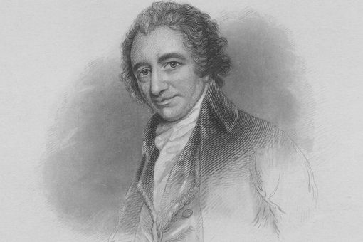 engraved portrait of Thomas Paine