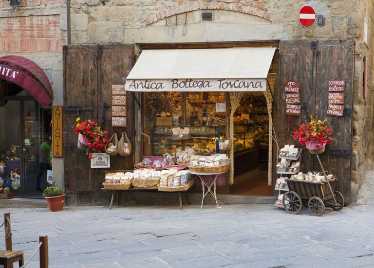 Tuscan food shop in Arezzo