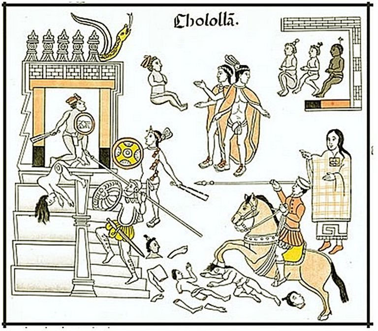 The Cholula Massacre By Cortes