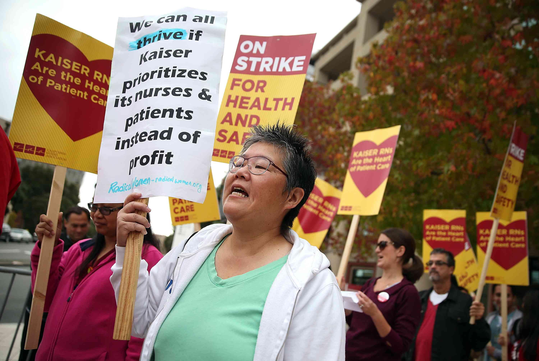 California Nurses Strike To Protest Patient Care Conditions, Ebola Preparation in 2014