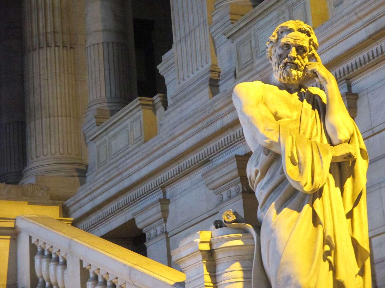 Statue of Lycurgus of Sparta.