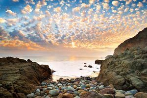 altocumulus sky sunset