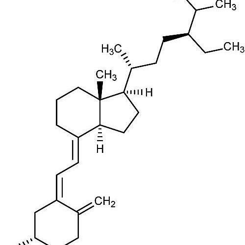 Esta es la estructura química del sitocalciferol o vitamina D5.
