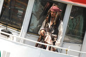 Johnny Depp Captain Jack Sparrow Wax Figure Cruises New York Harbor On The Circle Line - July 7, 2006