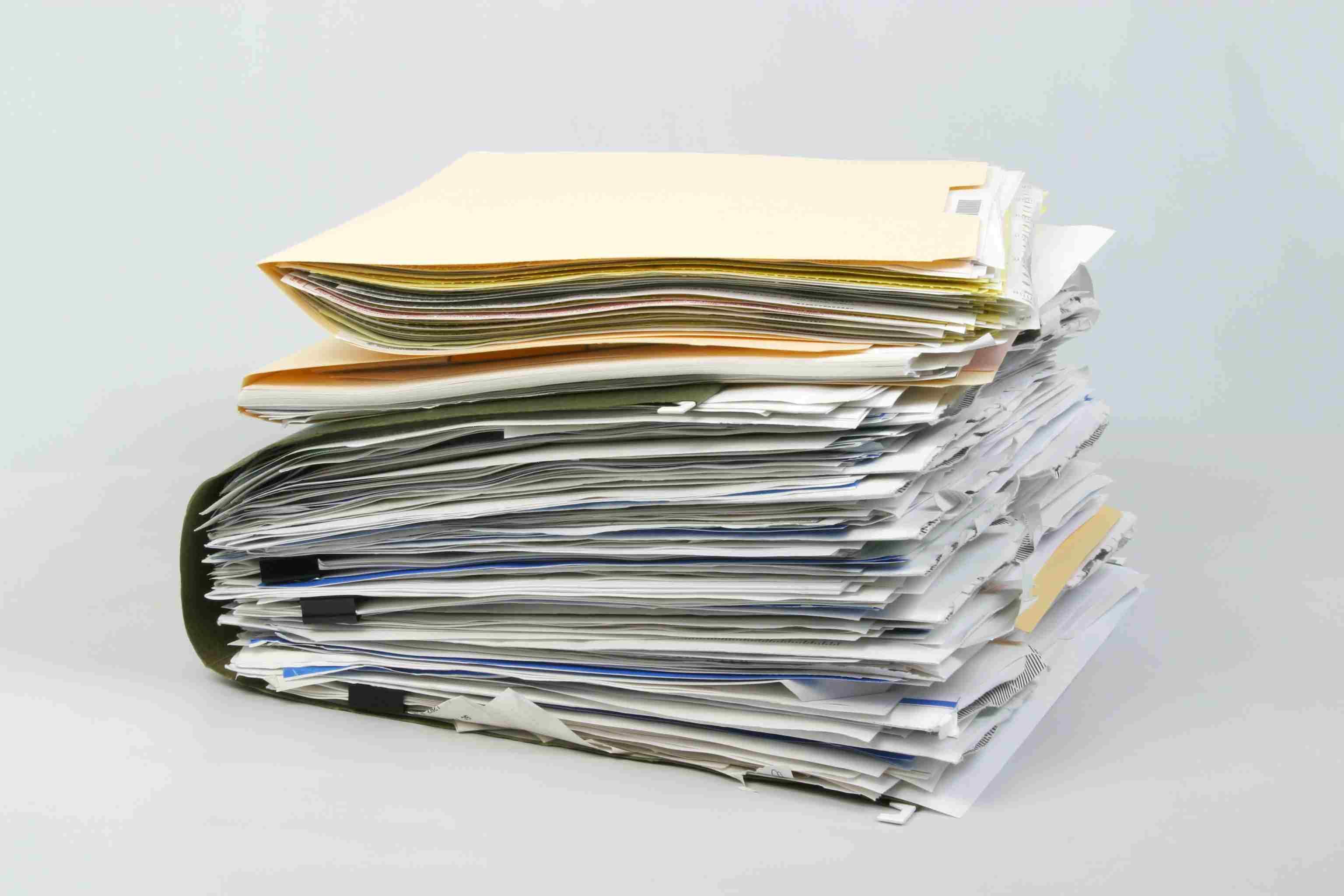 Overstuffed File Folders Document Paper Portfolio