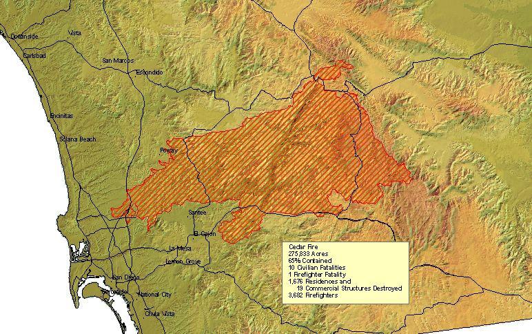 Destructive Forest Fires 1950 To Present