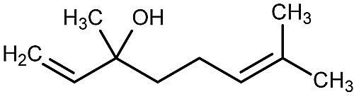 This is the chemical structure of linalool.