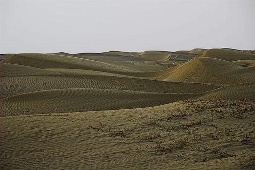 Taklamakan Desert on the Silk Road