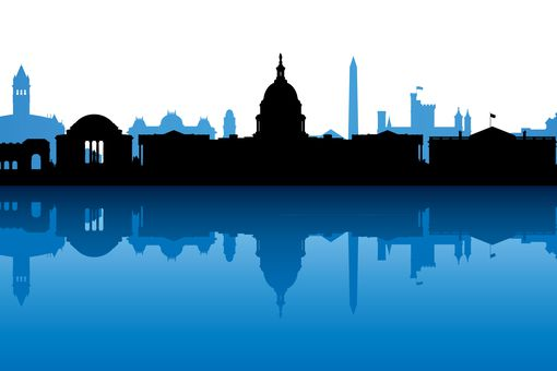 Washington DC skyline illustration