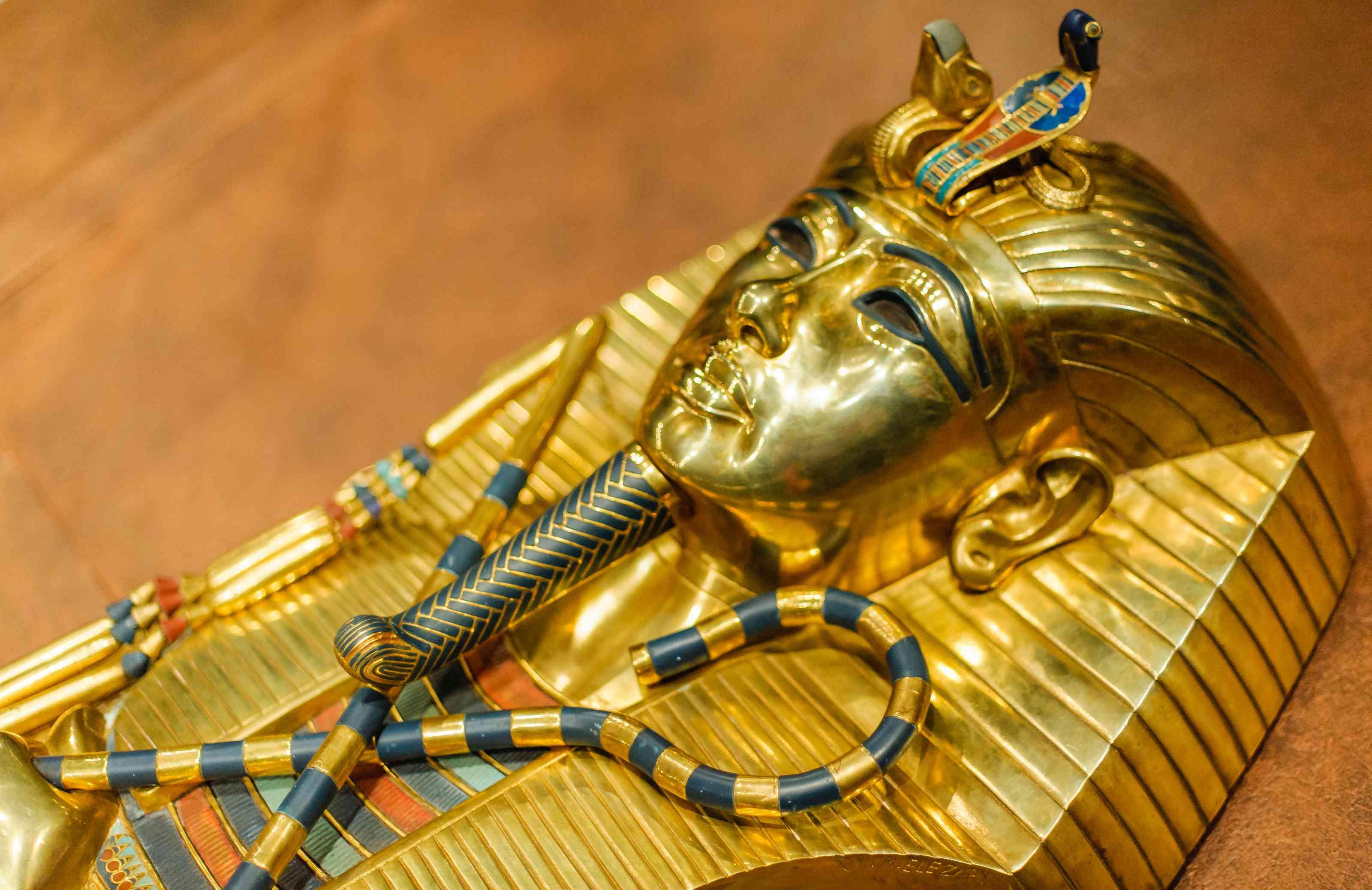 Replica of the golden Mask of Tutankhamun