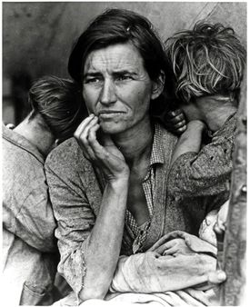 Migrant Mother, Nipomo, California, photograph by Dorothea Lange
