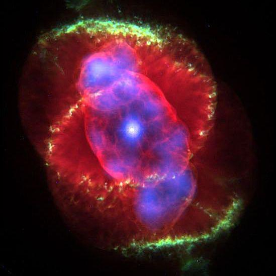 X-ray/optical composite image of NGC6543, the Cat's Eye Nebula.