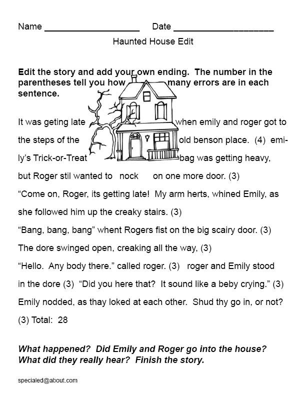 how to write a horror story for kids