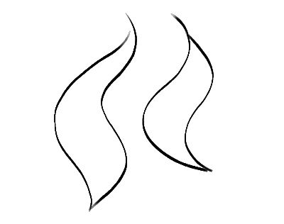 A Simple Flame Line Drawing
