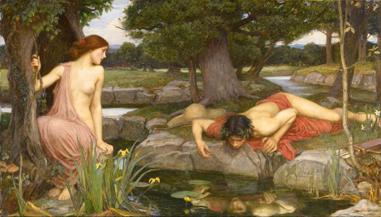 Narcissus and Echo (1903), a Pre-Raphaelite interpretation by John William Waterhouse