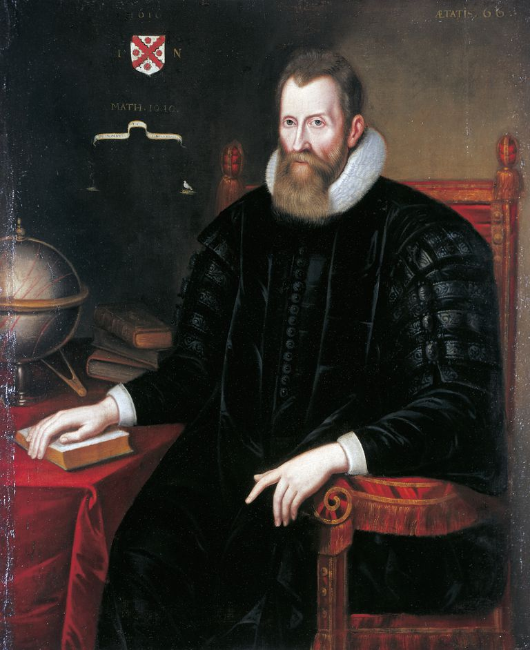 Portrait of John Napier (Edinburgh, 1550-1617), Baron of Merchiston, Scottish mathematician, astronomer, astrologer and physicist.