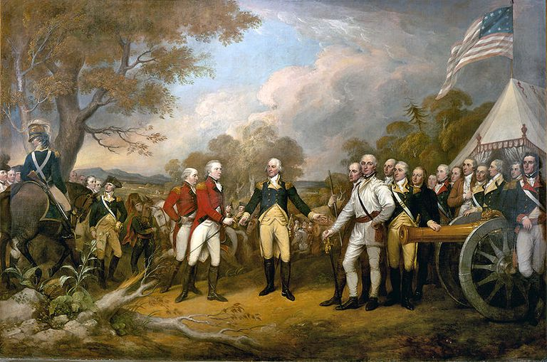 Surrender of Burgoyne by John Trumbull