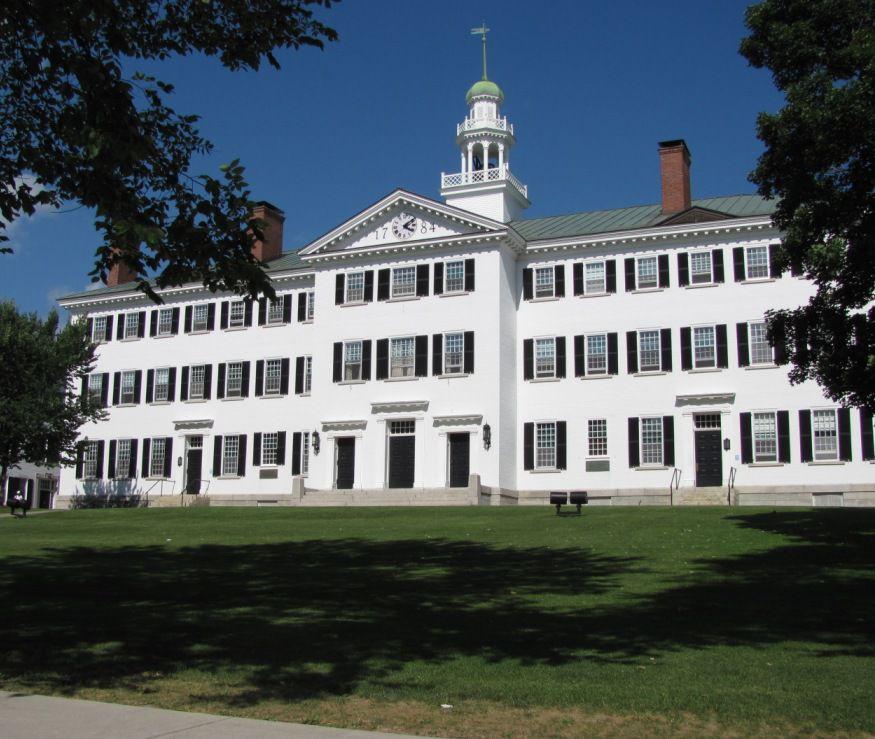 Dartmouth Hall at Dartmouth University