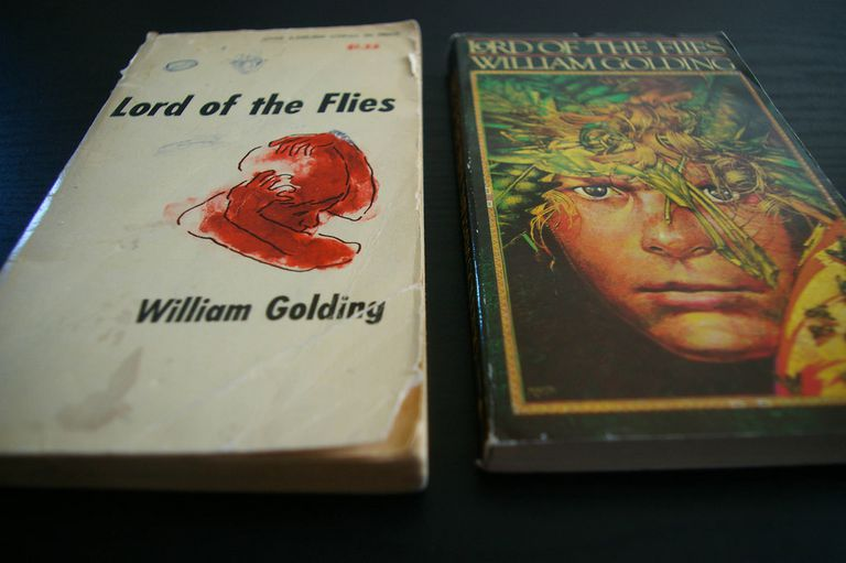 Two Lord of the Flies editions with different covers