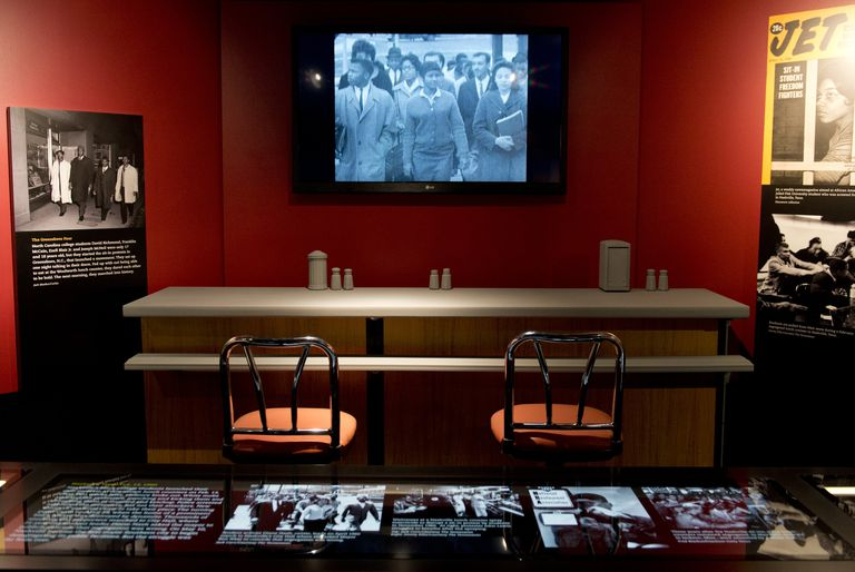 A section of the original F.W. Woolworth lunch counter