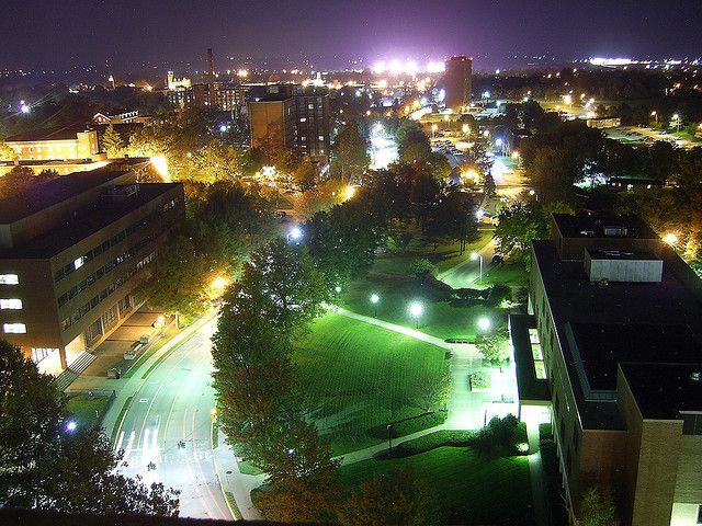 Eastern Kentucky University at Night