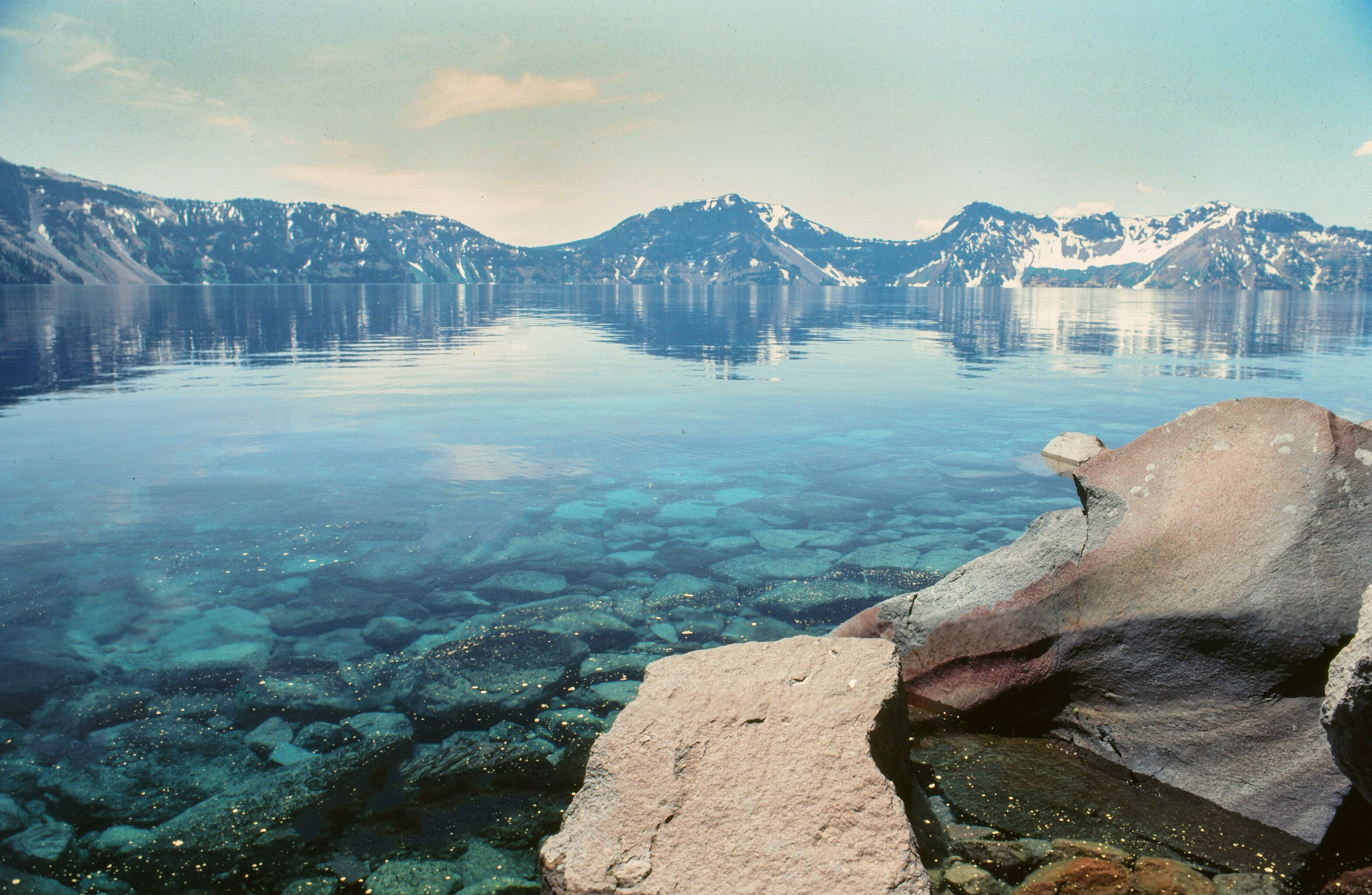 The shoreline of Crater Lake, Oregon