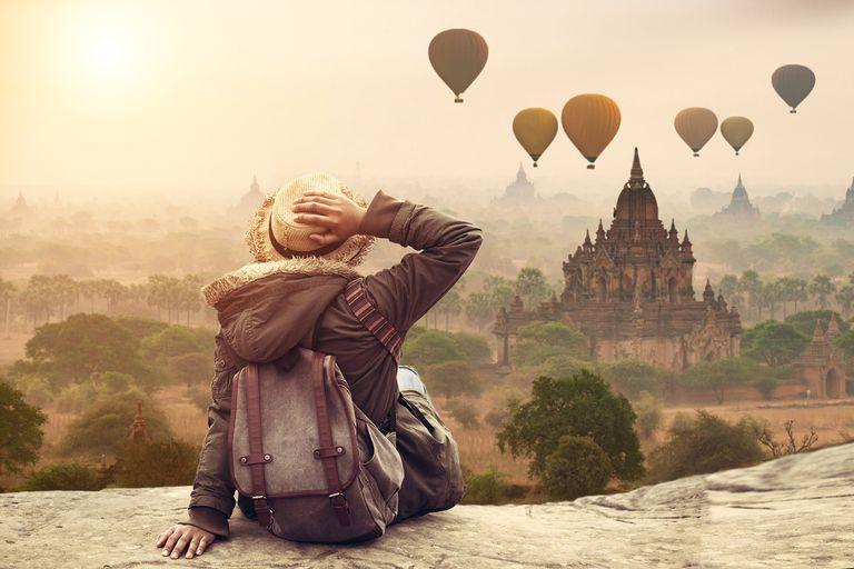 Young Woman in Bagan, Mandalay Myanmar