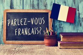French on chalkboard