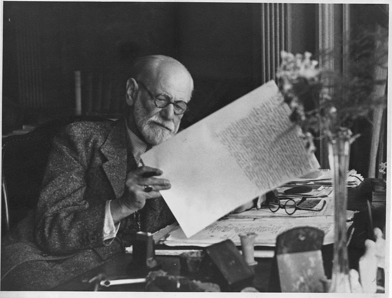 Sigmund Freud Editing a Manuscript