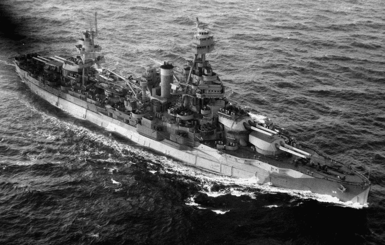 USS Texas (BB-35) during World War II