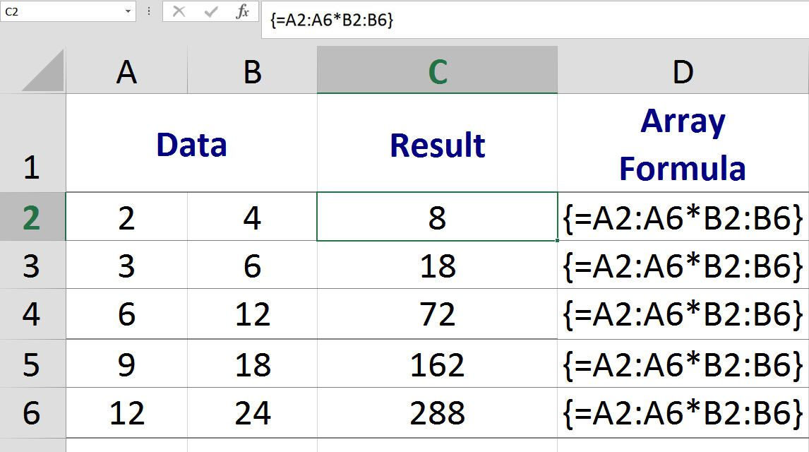 Excel Multi-Cell Array Formula Calculations