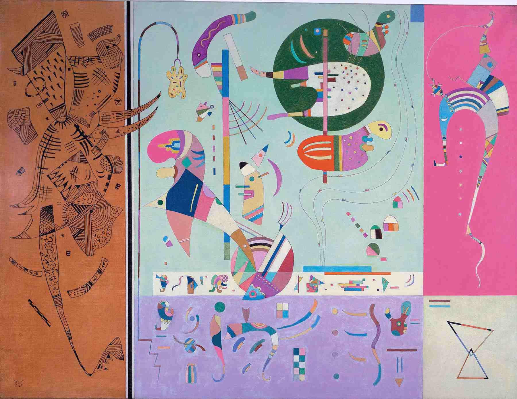 Wassily Kandinsky (Russian, 1866-1944) Wassily Kandinsky (Russian, 1866-1944). Various Parts (Parties diverses), February 1940. Oil on canvas. 35 x 45 5/8 in. (89 x 116 cm). Gabriele Münter and Johannes Eichner-Stiftung, Munich. On deposit at the Städtische Galerie im Lenbachhaus, Munich.