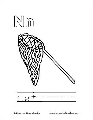 Net Coloring Page Letter N 1 Print The Pdf