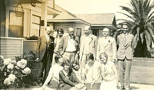 Members of the San Diego Chapter of the NAACP with W.E.B. Du Bois