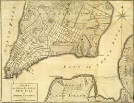 New York Map, 1776