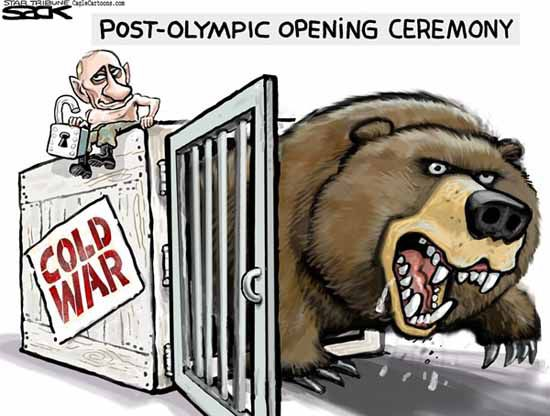 Russia Cold War Cartoon Joke