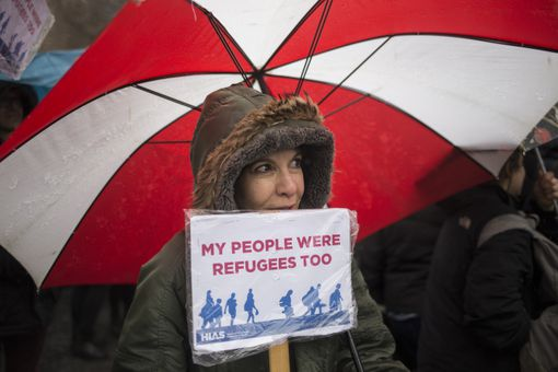 Jewish Refugee Group Holds Rally Against Trump's Immigration Ban