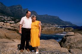 A mixed-race couple in South Africa