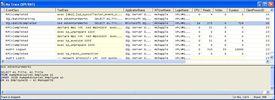 SQL Server profiler trace screenshot