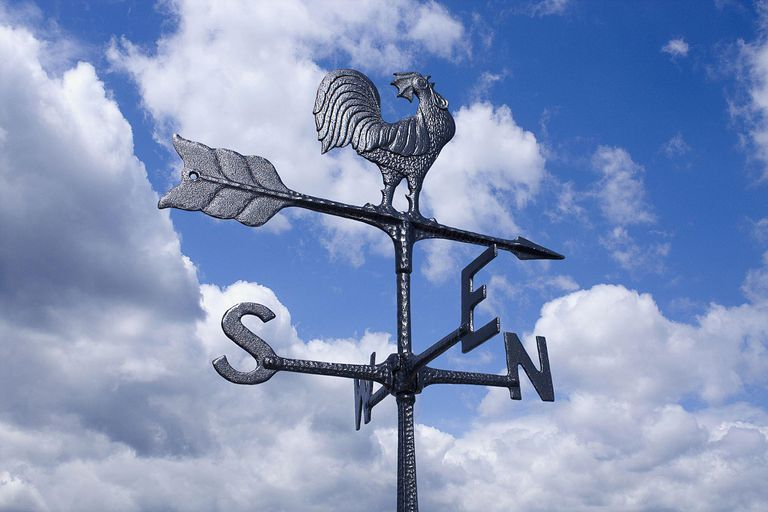 A picture of a weather vane