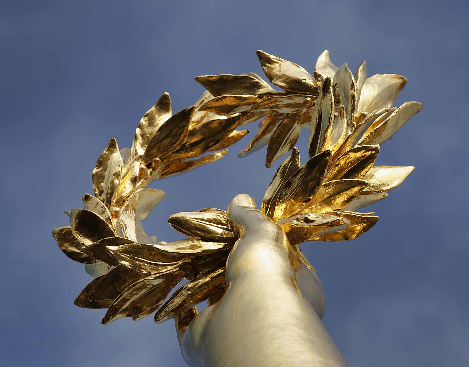 A golden laurel