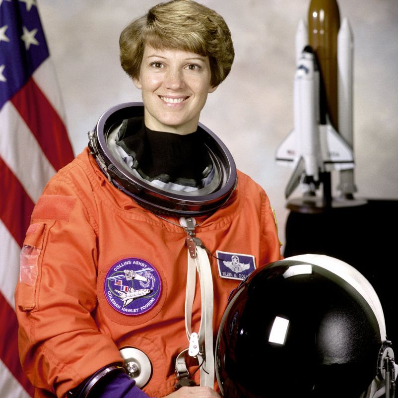 Eileen Collins, commander of STS-93 space shuttle mission, in 1998