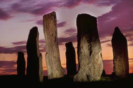 Megaliths at sunset, Callanish, Scotland