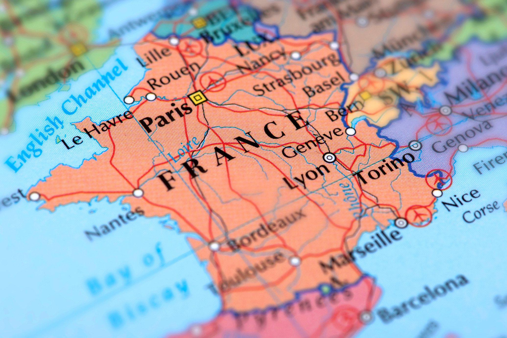 Geografi Og Informasjon Om Frankrike