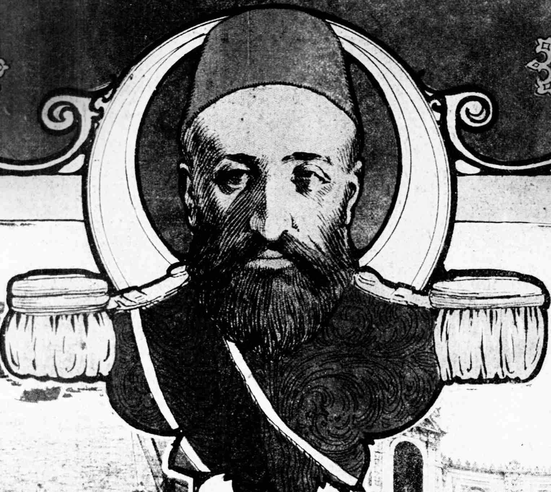 Newspaper illustration of Abdülhamit (Abdul Hamid) II, sultan of the Ottoman Empire