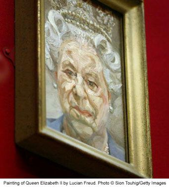 Lucian Freud painting of Queen Elizabeth II