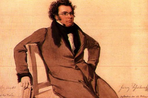 Portrait of Franz Schubert by Wilhelm August Rieder