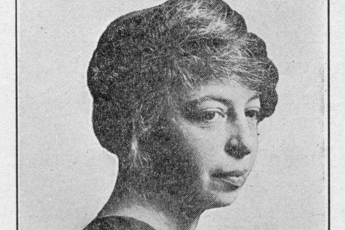 Portrait of American journalist, teacher, playwright, and poet Angelina Weld Grimke (1880 - 1958).