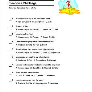 Seahorse Printables 2